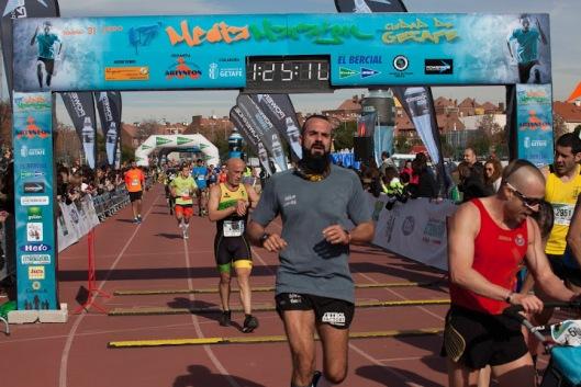 Acabando la Media Maratón de Getafe
