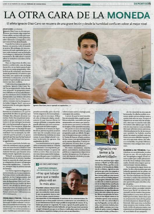 Artículo publicado en La Tribuna de Ciudad Real